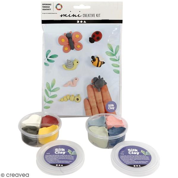 Kit créatif modelage Silk Clay - Insectes du jardin - Photo n°1