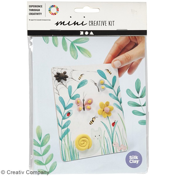 Kit créatif modelage Silk Clay - Tableau printanier - Photo n°2