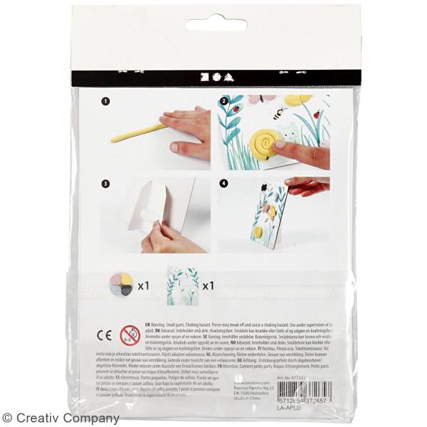 Kit créatif modelage Silk Clay - Tableau printanier - Photo n°3