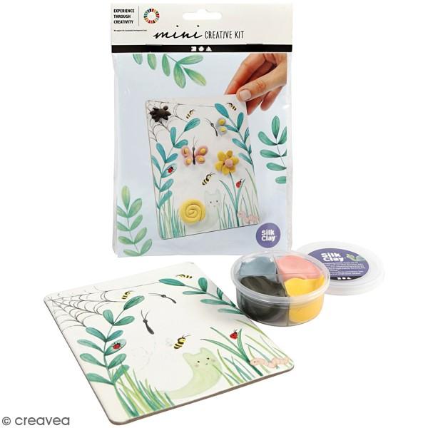 Kit créatif modelage Silk Clay - Tableau printanier - Photo n°1