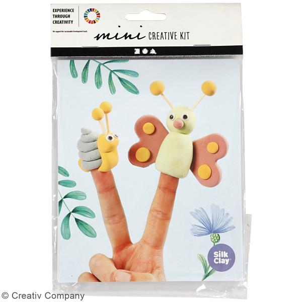 Kit créatif modelage Silk Clay - Marionnettes à doigt - Photo n°2