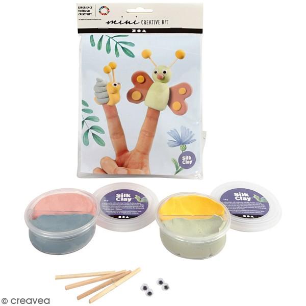 Kit créatif modelage Silk Clay - Marionnettes à doigt - Photo n°1