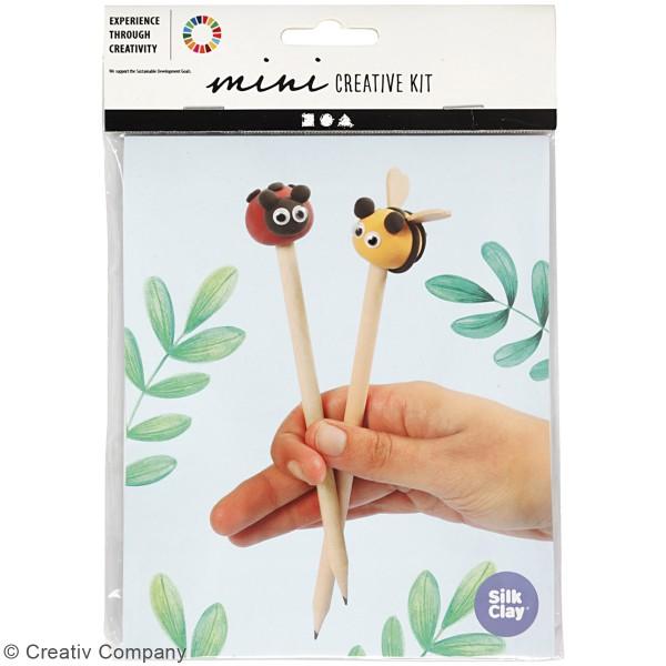 Kit créatif modelage Silk Clay - Crayon coccinelle et abeille - Photo n°2