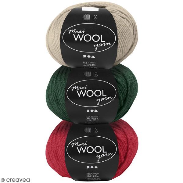 Pelote de laine XL Maxi Wool Yarn - 100 g - Photo n°1