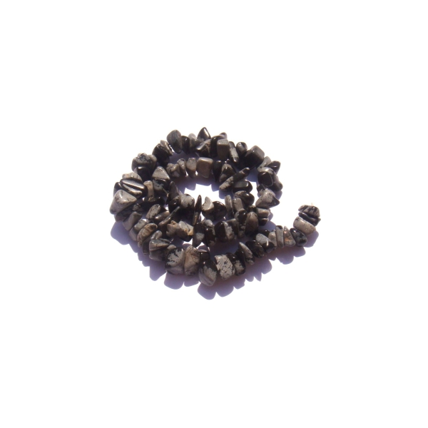 Obsidienne mouchetée : 50 perles chips 5/7 MM de diamètre environ - Photo n°1