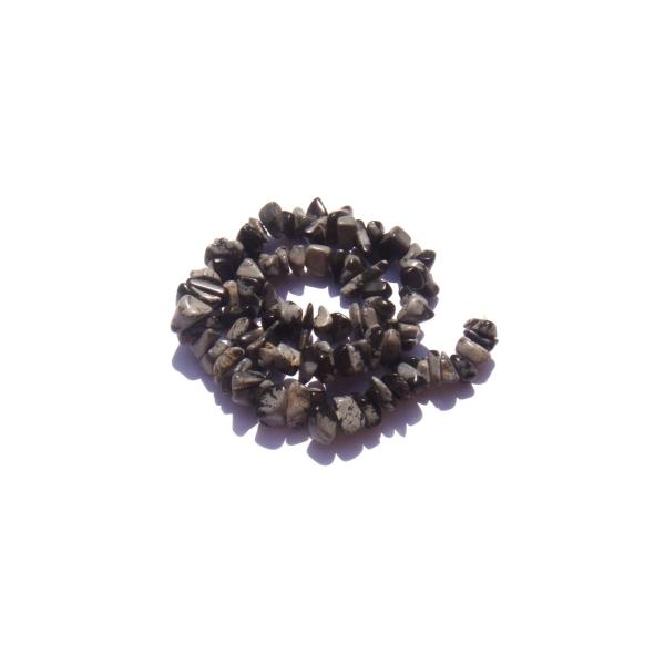 Obsidienne mouchetée : 90 MINI perles chips 4/6 MM de diamètre environ - Photo n°1