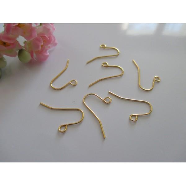 Crochets d'oreilles 19 x 16 mm doré x 20 - Photo n°1