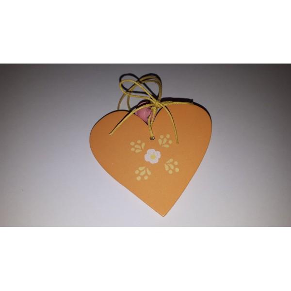 Coeur à suspendre orange. - Photo n°1