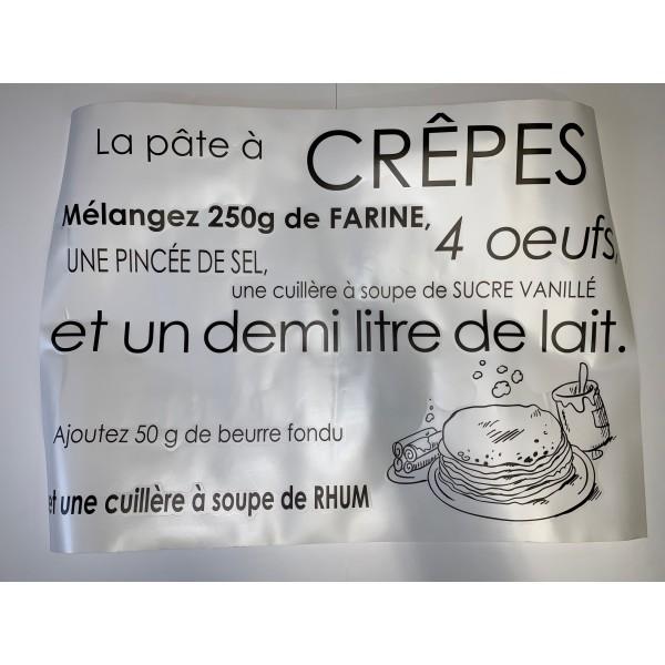Stickers trompe l'œil sur le thème de recette de crêpes - Photo n°1