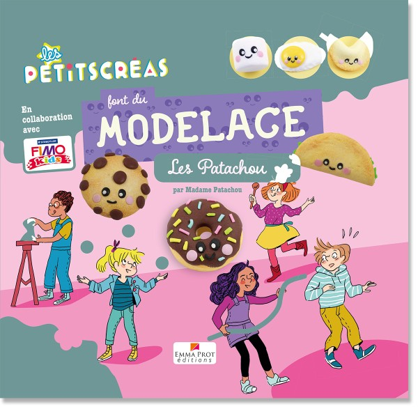 Livre Les petitscréas font du modelage - Les patachou - 10 modèles - Photo n°1