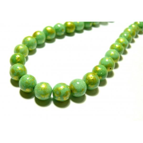 Lot de 50 Perles en Bois Tubes 6 x 12 mm Vert Anis