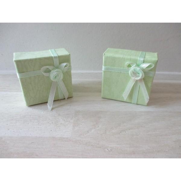 Boite écrin vert pale pour bague - Photo n°2