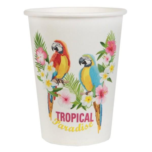 20 Gobelets en carton décor Tropical - Photo n°1
