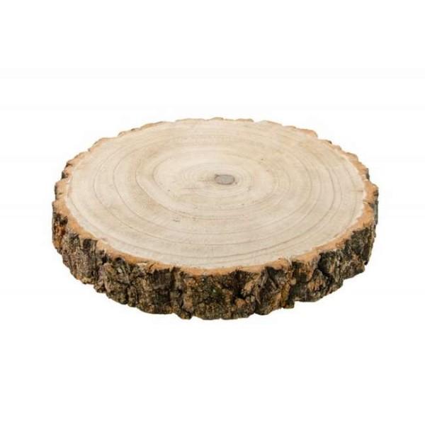Déco de table rondin de bois D. 26 cm épais - Photo n°1