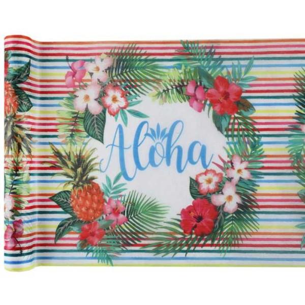 Chemin de table Aloha multicolore x 5 mètres - Photo n°1