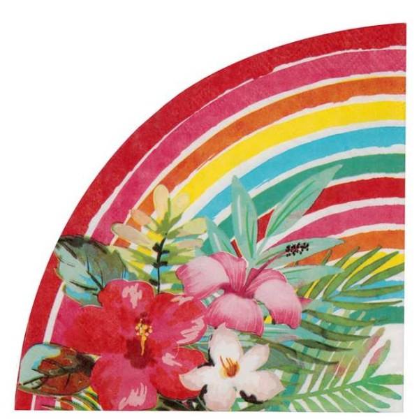20 Serviettes en papier Aloha multicolore - Photo n°1