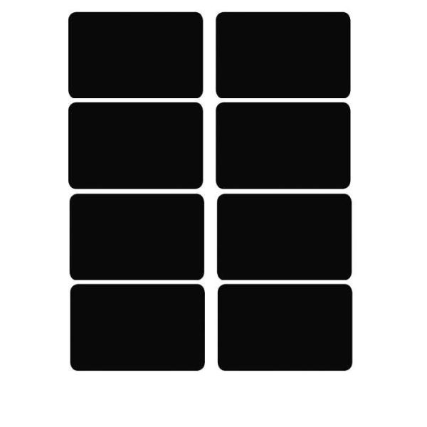 16 Etiquettes ardoises adhésives rectangles - Photo n°1