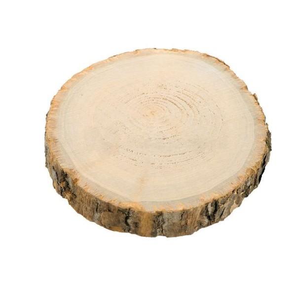 Déco de table rondin de bois D. 15 cm - 17 cm - Photo n°1