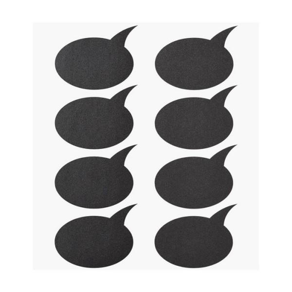 24 Etiquettes ardoises adhésives forme Bulle - Photo n°1