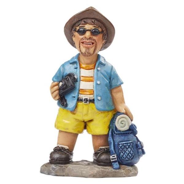 Figurine vacancier avec sac à dos 7,5 cm - Photo n°1