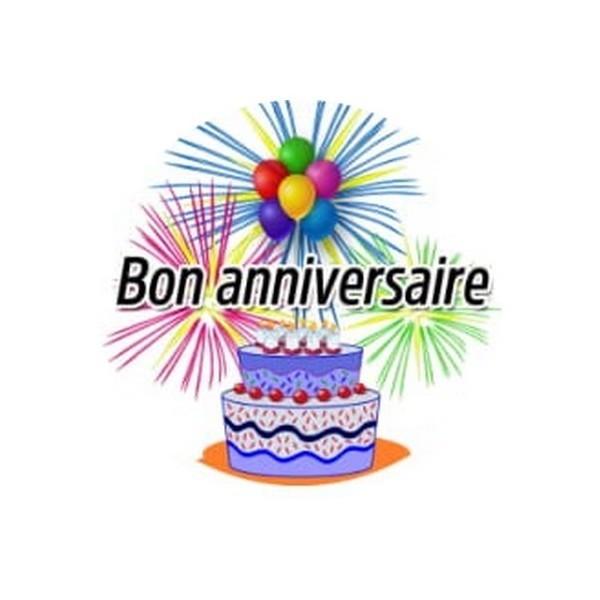 1 Cabochon Verre 25 mm, Cabochon Rond, Anniversaire Bon Anniversaire 1 - Photo n°1