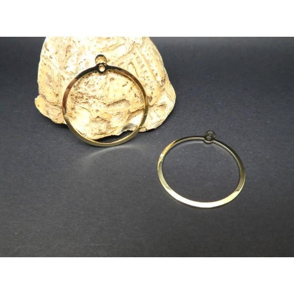 2 Connecteurs chandeliers ronds 20mm doré - Photo n°1