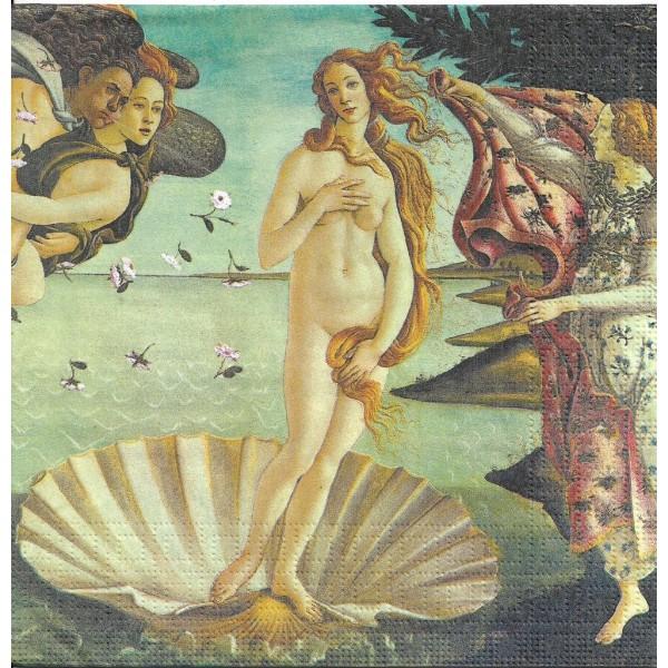 4 Serviettes en papier La Naissance de Vénus Sandro Botticelli Mythologie Format Lunch 133-3495 PPD - Photo n°1