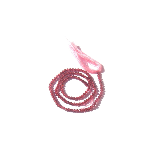 Grenat Orissa : 20 MICRO perles facettées 2 MM de diamètre environ - Photo n°1