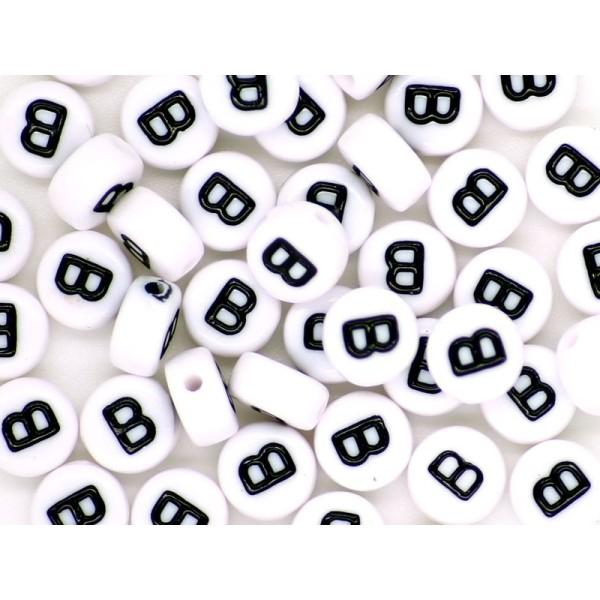 50 Perles Alphabet Lettre - B - Photo n°1