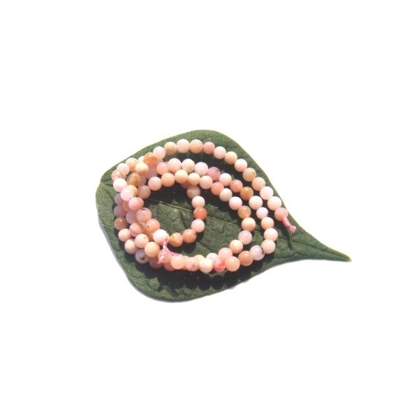 Opale Rose Pérou très pâle multicolore : 20 petites perles 3 MM diamètre - Photo n°2