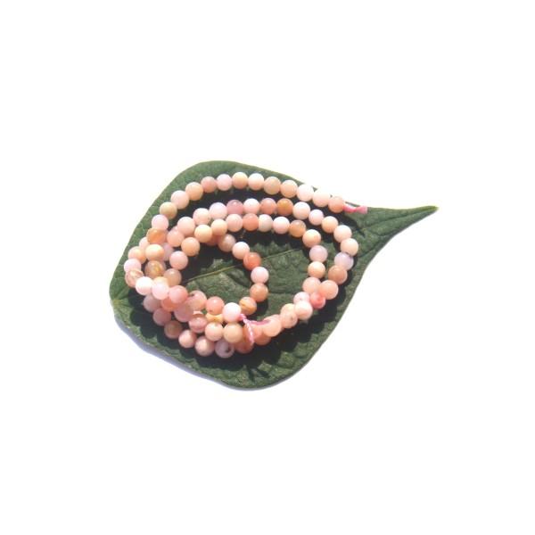 Opale Rose Pérou très pâle multicolore : 20 petites perles 3 MM diamètre - Photo n°1