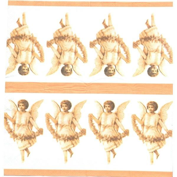 4 Mouchoirs en papier Ange Nostalgie Decoupage Decopatch TC0021 Colourful Life - Photo n°1