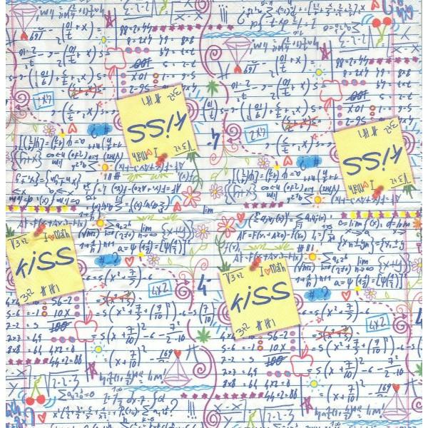 4 Mouchoirs en papier  Enfant école écriture Decoupage Decopatch TN0077 Colourful Life - Photo n°1