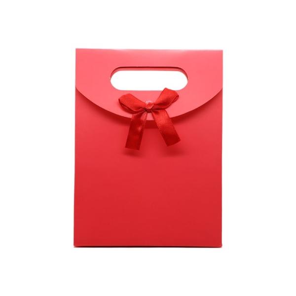 Pochette Cadeau Rouge Avec Ruban