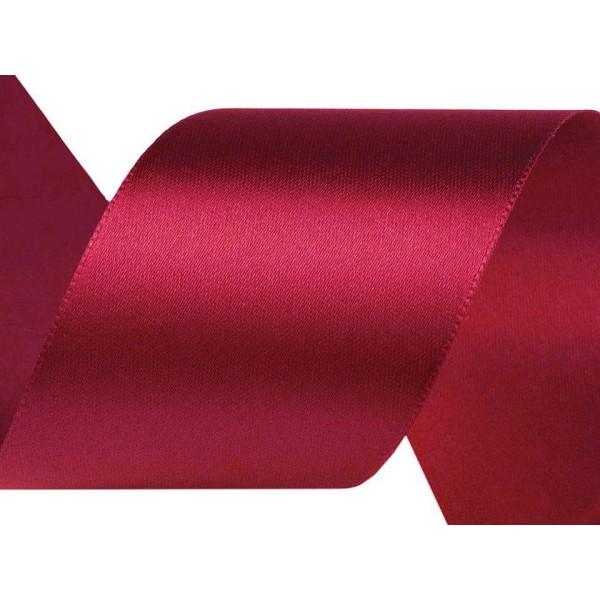 22,5 m de Lumière Vin Rouge de Ruban de Satin Largeur 40 mm, Simple Face, Rubans - Unique de la Coul - Photo n°1