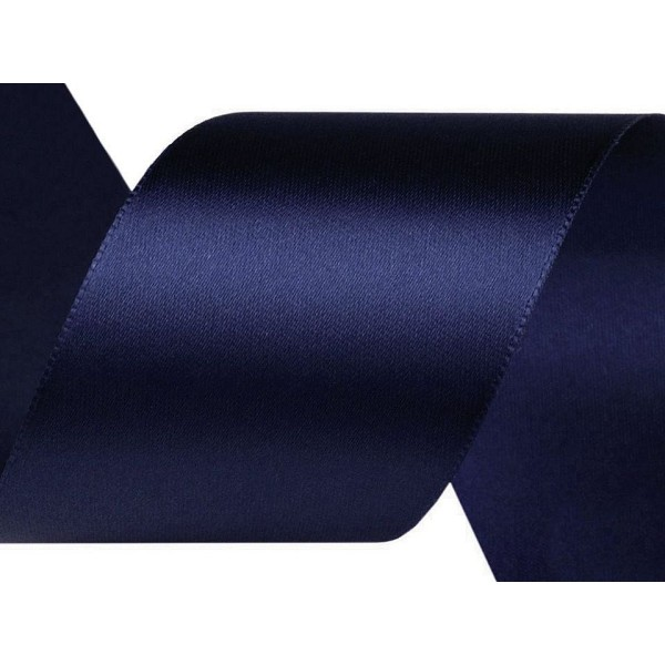 22,5 m de Capri Bleu Ruban de Satin Largeur 40 mm, Ruban Personnalisé, des Fournitures d'Artisanat, - Photo n°1
