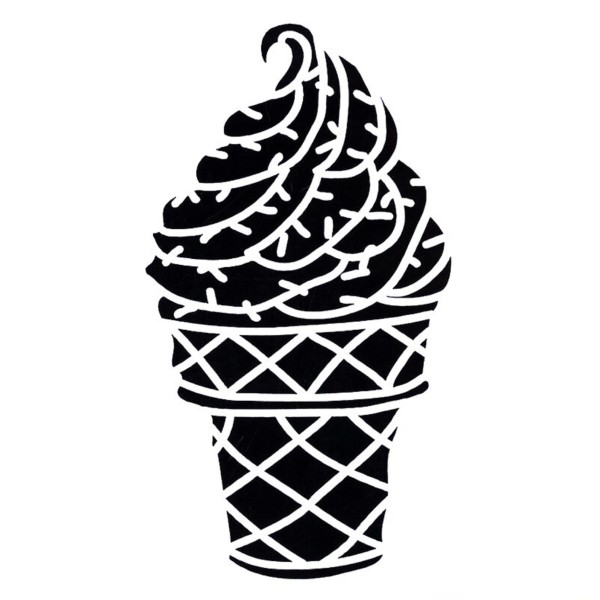 POCHOIR PLASTIQUE 13*13cm : coupe de glace - Photo n°1