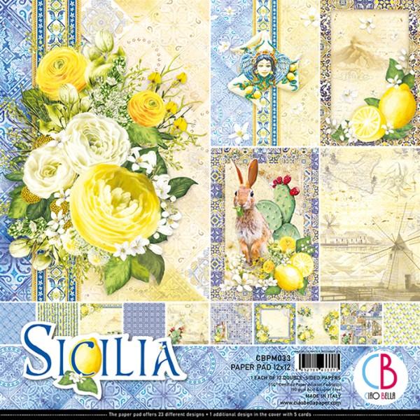 12 papiers scrapbooking 30,5 x 30,5 cm CIAO BELLA SICILIA - Photo n°1