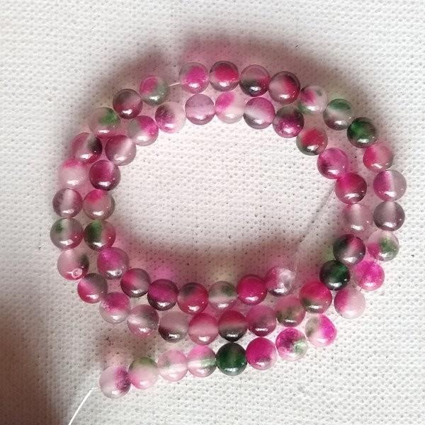 lot de 50 perles Rose néon Perle en bois ronde Ø 8 mm