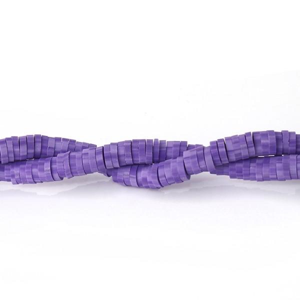 Perles HEISHI 5 mm violet x fil de 319 unités - Photo n°1