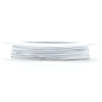 9 M d'Acier Câblé Blanc 0.38 mm