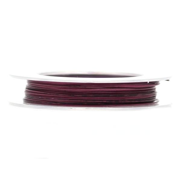 9 M d'Acier Câblé Violet 0.38 mm - Photo n°1