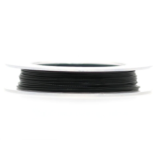 9 M d'Acier Câblé Noir 0.38 mm