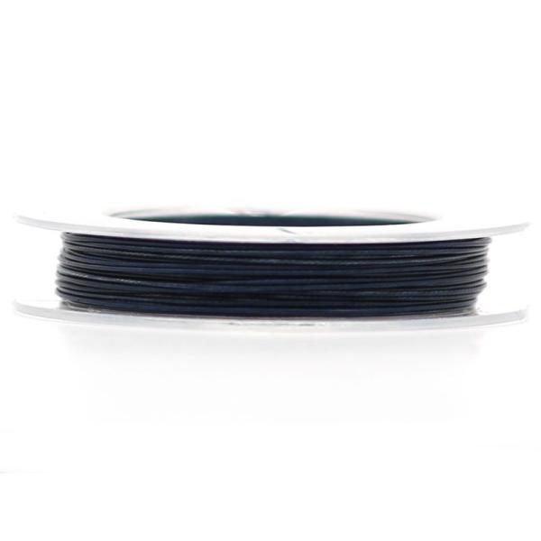 9 M d'Acier Câblé Bleu Nuit 0.45 mm - Photo n°1