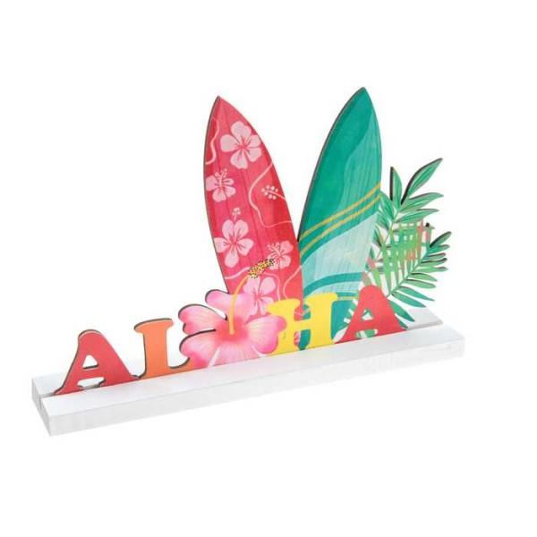 Centre de table ALOHA en bois multicolore - Photo n°1