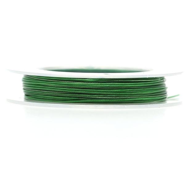9 M d'Acier Câblé Vert 0.45 mm - Photo n°1