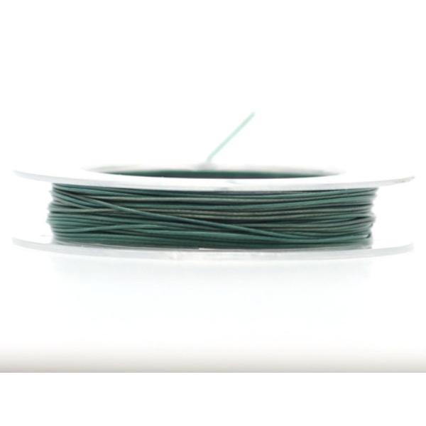 9 M d'Acier Câblé Vert Foncé 0.45 mm - Photo n°1