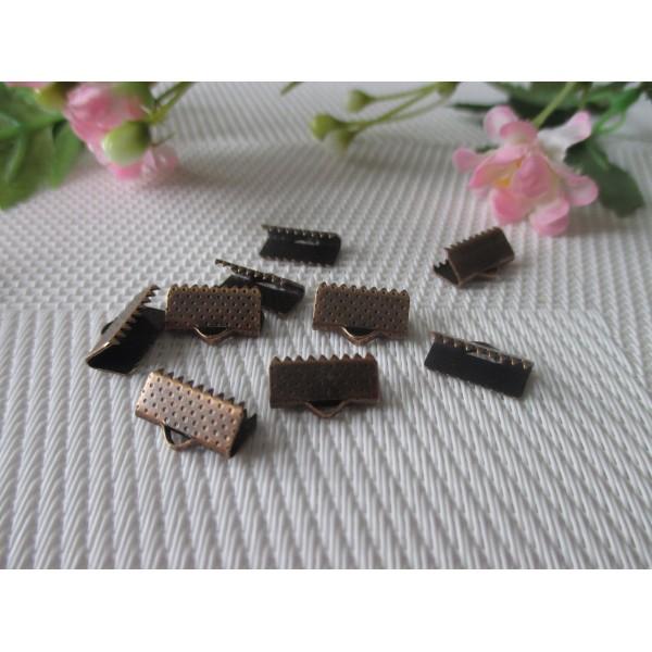 Embouts ruban à griffes 13 mm cuivre rouge x 50 - Photo n°2