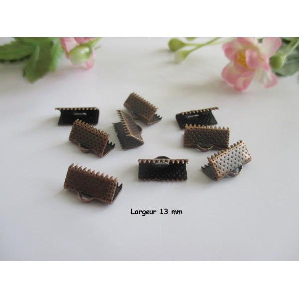 Embouts ruban à griffes 13 mm cuivre rouge x 50 - Photo n°1