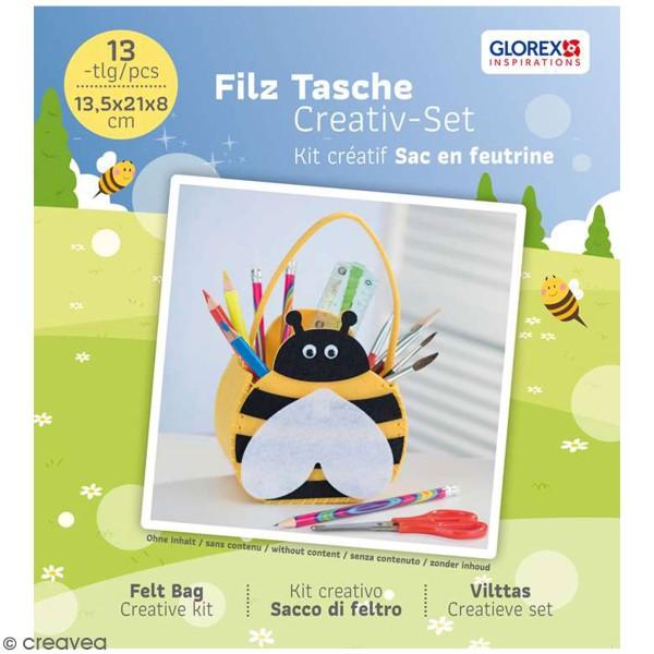 Kit feutrine - Petit sac abeille - Photo n°1